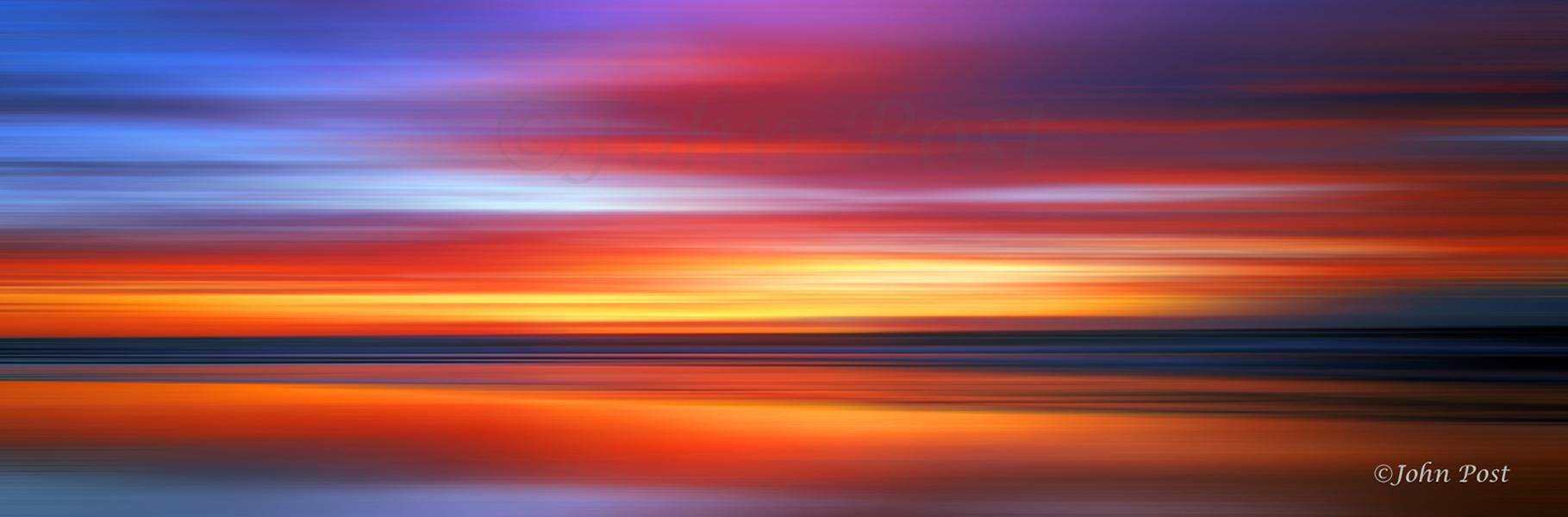 Seascape 140 Sunrise Panorama by John Post Manhattan Beach Photogrpher