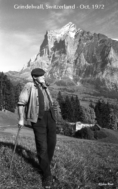 1972 October First Photo Of Trip Switzerland Grindlewald (c)johnpost