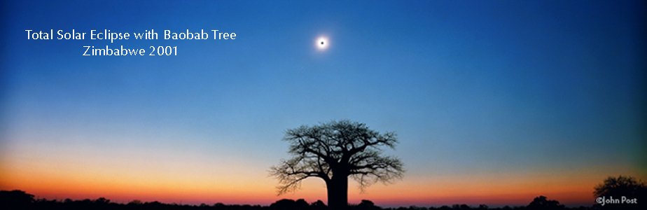 2001 Total Solar Eclipse With Baobab Tree Zimbabwe Africa (c)johnpost